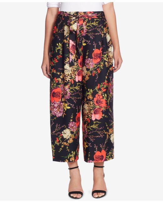 Catherine Malandrino | Multicolor Wide-leg Floral-print Pants | Lyst