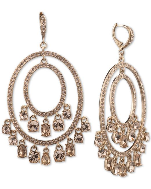 df6686141 Givenchy - Metallic Goldplated And Crystal Shaky Orbital Earrings - Lyst ...