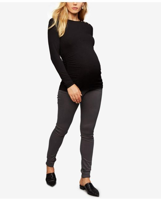 AG Jeans | Gray Maternity Skinny Jeans | Lyst