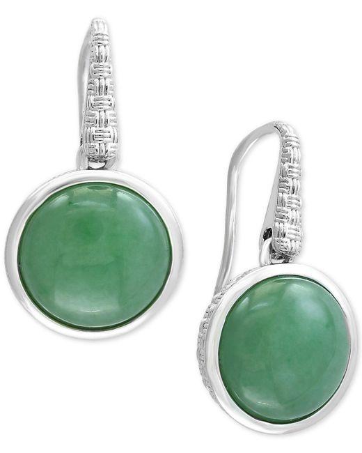 Effy Collection | Metallic Jade (12mm) Drop Earrings In Sterling Silver | Lyst