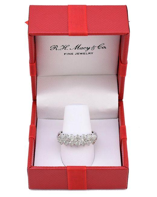 Macy's | Metallic 14k White Gold Ring, Diamond (1 Ct. T.w.) | Lyst