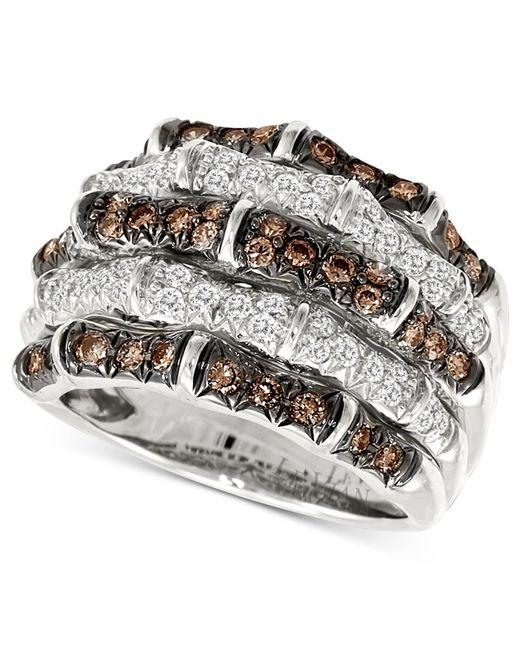 Le Vian   Metallic Diamond White And Chocolate Diamond (1-1/4 Ct. T.w.) In 14k White Gold   Lyst