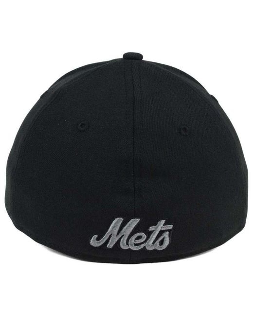 1cf1392d ... wholesale ktz new york mets black and charcoal classic 39thirty cap for men  lyst df305 fa159