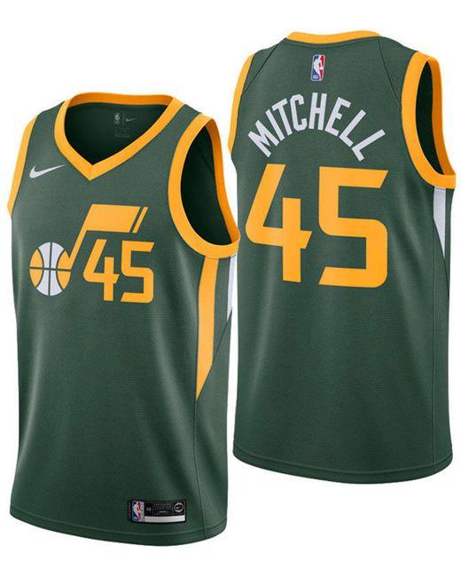 178d10d1b Nike - Green Donovan Mitchell Utah Jazz Earned Edition Swingman Jersey for  Men - Lyst ...