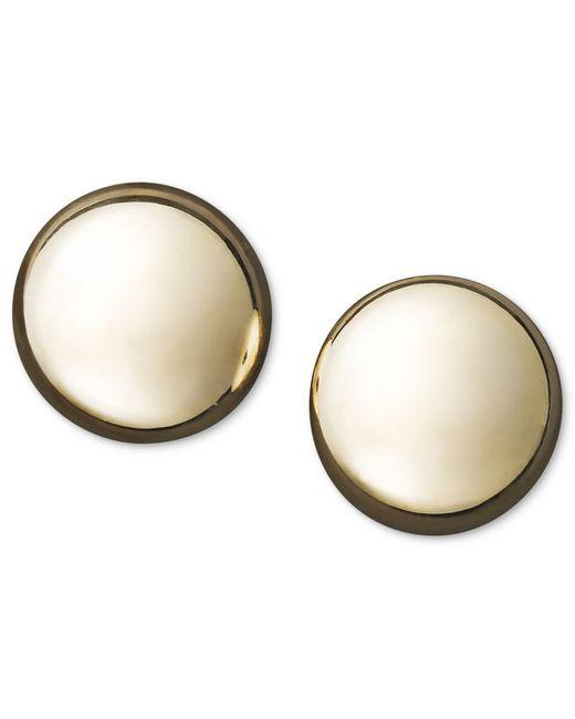 Macy's Flat Ball Stud Earrings (7mm) In 14k Yellow Or ...
