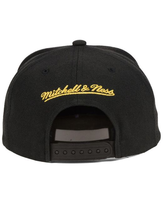 online store 4b991 44c75 new style mitchell ness cleveland cavaliers metallic tempered snapback cap  for men lyst ae601 fcd71