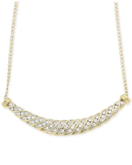 Wrapped in Love - Metallic Diamond Channel-set Collar Necklace (1/2 Ct. T.w.) In 10k Gold - Lyst