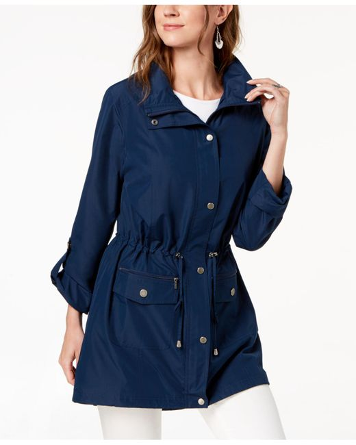 Style & Co. - Blue Tunic-length Anorak Jacket - Lyst