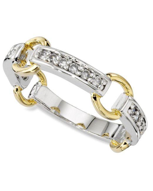 Charter Club | Metallic Ring, Cubic Zirconia Circle Band | Lyst