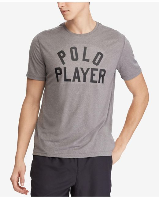 Polo Ralph Lauren - Gray Active-fit Performance T-shirt for Men - Lyst