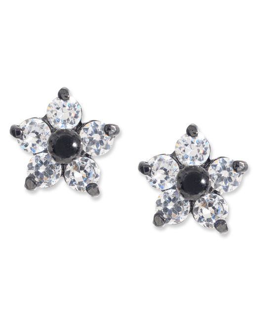 Betsey Johnson | Black Crystal Star Stud Earrings | Lyst