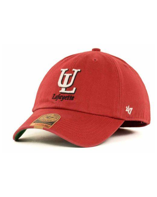 47 Brand - Red Louisiana Lafayette Ragin' Cajuns Franchise Cap for Men - Lyst