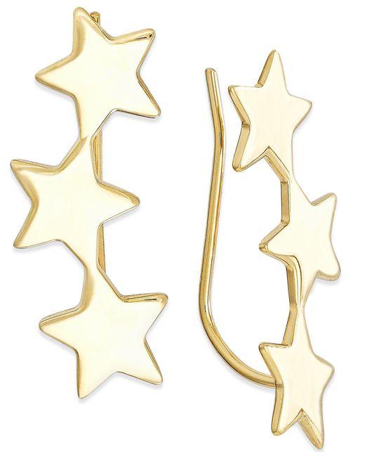 Macy's | Metallic Star Crawler Earrings In 14k Gold | Lyst