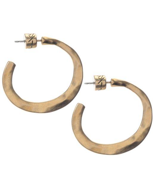 Kenneth Cole | Metallic Earrings, Gold-tone Small Post Hoop | Lyst
