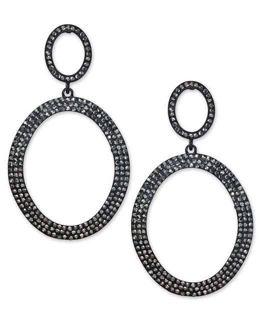 INC International Concepts | Multicolor Jet-tone Pavé Gypsy Hoop Earrings | Lyst