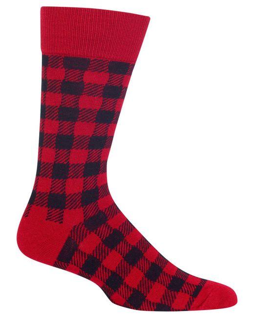 Hot Sox | Red Men's Buffalo Plaid Socks for Men | Lyst