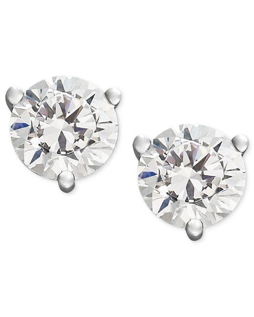 Macy's | Metallic Near Colorless Certified Diamond Stud Earrings In 18k White Or Yellow Gold (3/4 Ct. T.w.) | Lyst