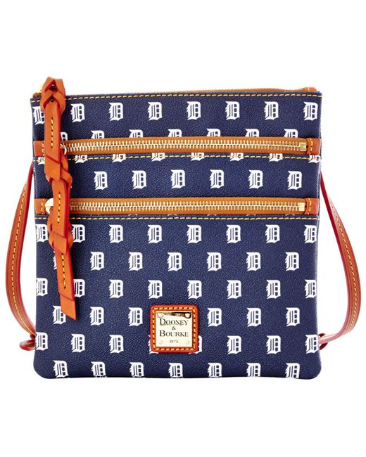 Dooney & Bourke - Blue Detroit Tigers Triple Zip Crossbody Bag - Lyst