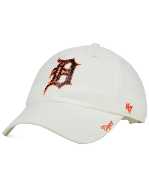 47 Brand | White Women's Detroit Tigers Adjustable Clean Up Cap | Lyst