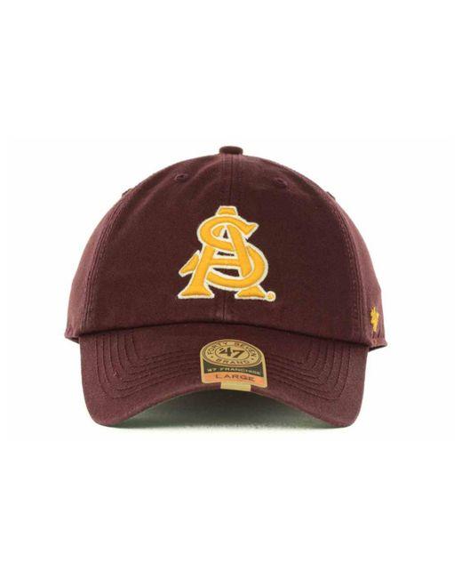 new product 8498c ee8b9 ... denmark 47 brand purple arizona state sun devils franchise cap for men  lyst ce8dd 7f0cf