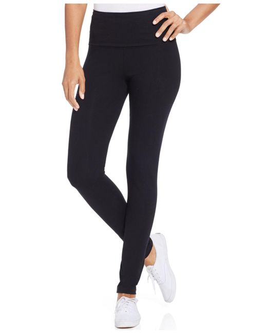 Style & Co. | Black Tummy-control Active Leggings | Lyst