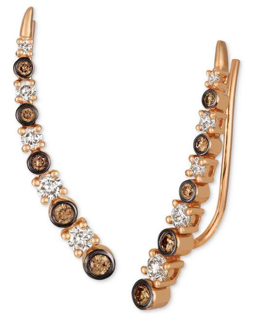 Le Vian - Metallic Strawberry & Nudetm Diamond Climber Earrings (3/4 Ct. T.w.) In 14k Rose Gold - Lyst