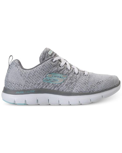 ed7b5252b53c3 Skechers - Gray High Energy Walking Sneakers From Finish Line - Lyst .