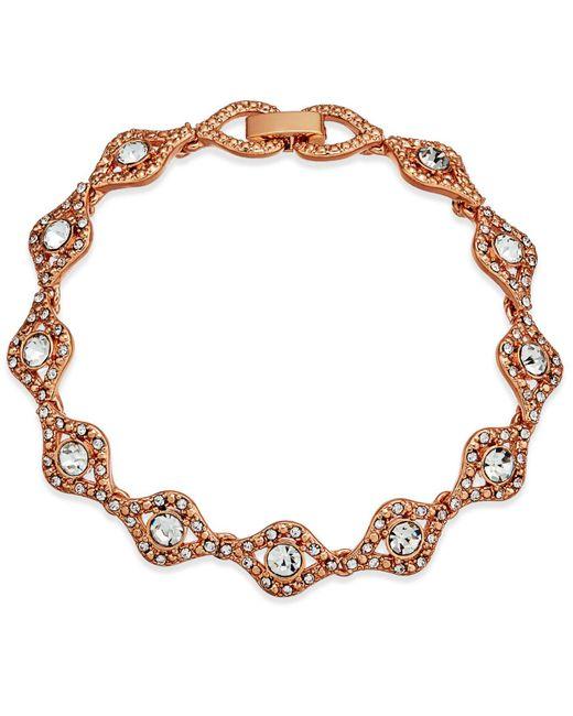 Charter Club - Multicolor Rose Gold-tone Crystal Link Bracelet - Lyst