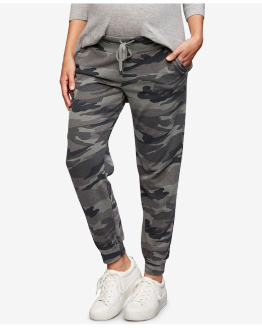 Splendid - Gray Maternity Camouflage Jogger Pants - Lyst