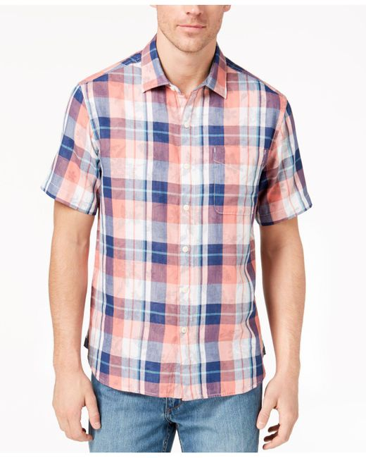 Tommy Bahama - Blue Double Fauna Plaid Shirt for Men - Lyst