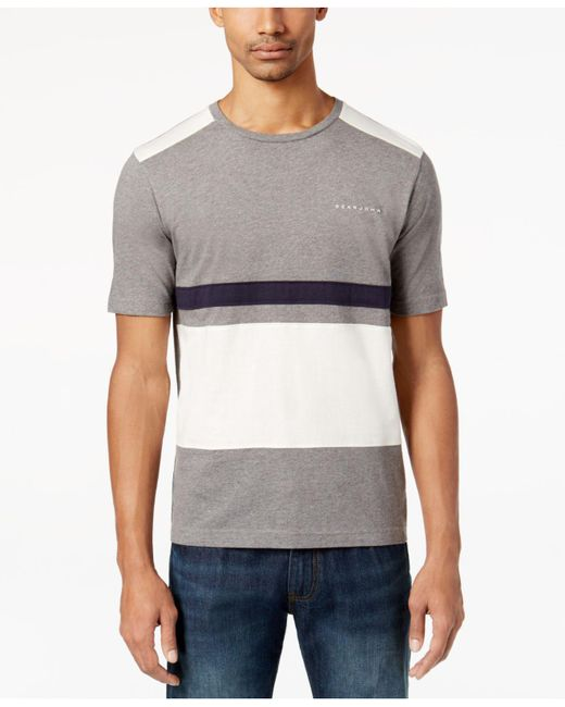Sean John   Gray Men's Pieced Colorblocked T-shirt for Men   Lyst