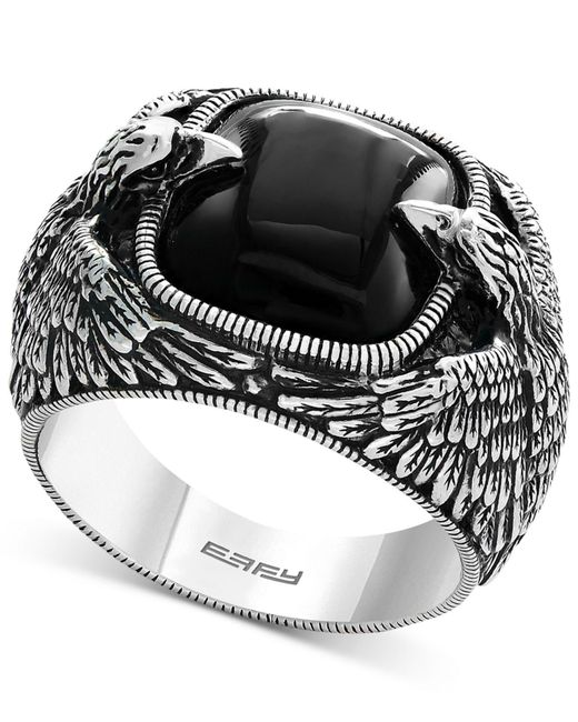 Effy Collection - Metallic Men's Onyx Eagle Ring (10 Ct. T.w.) In Sterling Silver - Lyst