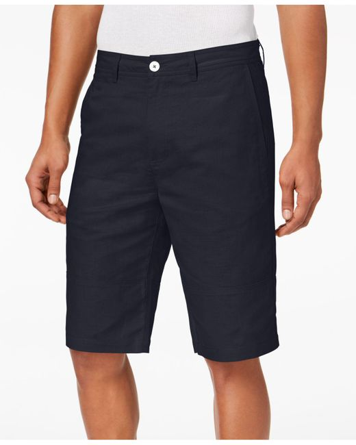 Sean John - Blue Linen Shorts, Created For Macy's for Men - Lyst