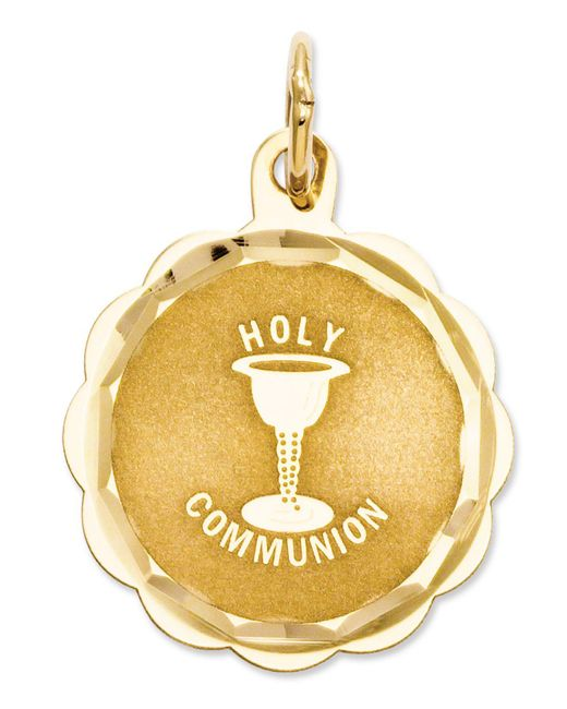Macy's - Metallic 14k Gold Charm, Holy Communion Charm - Lyst