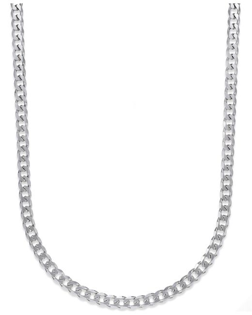 Macy's | Metallic Men's Curb Chain Necklace In Sterling Silver for Men | Lyst
