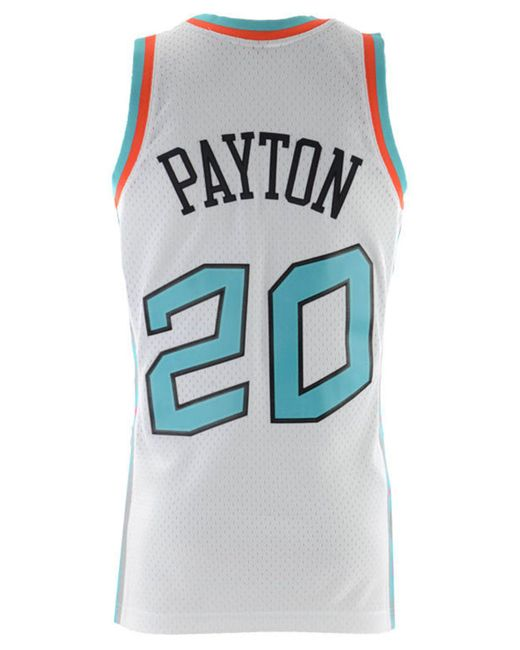 Mitchell   Ness - White Gary Payton Nba All Star 1996 Swingman Jersey for  Men ... f9db239ea