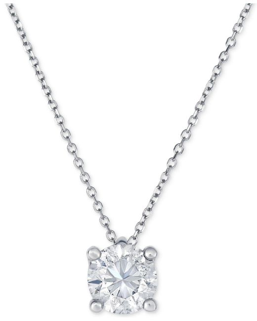 Macy's - Metallic Diamond Pendant Necklace (1 Ct. T.w.) In 14k White Gold - Lyst