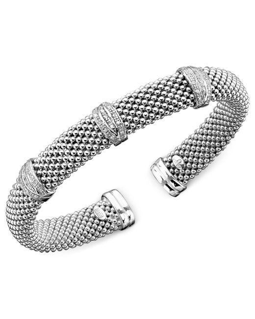 Macy's - Metallic Diamond Bracelet In Sterling Silver (1/3 Ct. T.w.) - Lyst