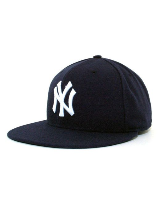 d0be9e41d15 KTZ - Blue New York Yankees Mlb Authentic Collection 59fifty Cap - Lyst ...