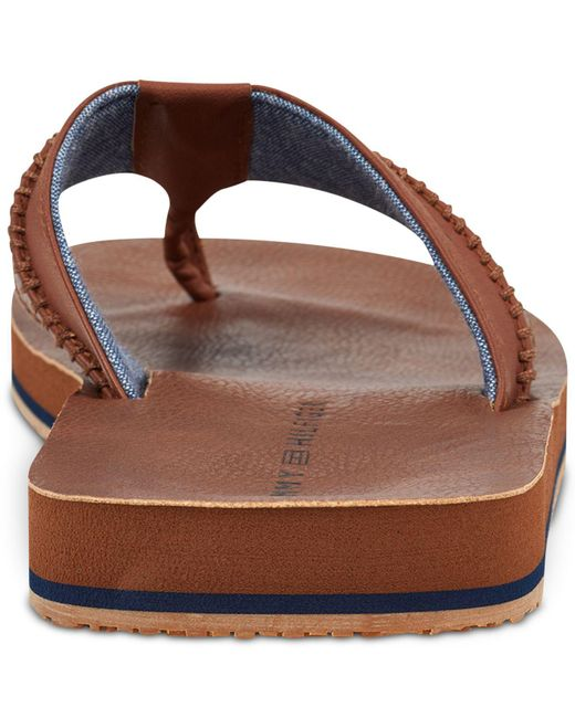 592c0082af46 ... Tommy Hilfiger - Brown Dilly Thong Sandals for Men - Lyst ...