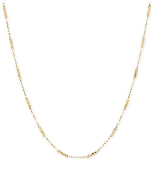 "Macy's - Metallic Textured Link 18"" Statement Necklace In 10k Gold - Lyst"