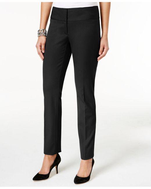 Alfani - Black Slim Straight-leg Pants - Lyst