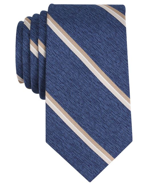 Perry Ellis | Blue Men's Jeffers Stripe Silk Tie for Men | Lyst