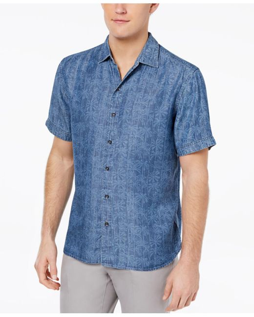 Tommy Bahama - Blue Block Party Palm Shirt for Men - Lyst