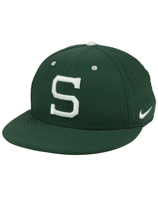 Nike - Green Michigan State Spartans Aerobill True Fitted Baseball Cap for Men - Lyst