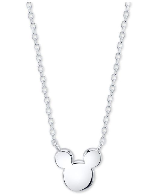 Disney - Metallic 's Mickey Mouse Head Pendant Necklace In Sterling Silver For Unwritten - Lyst