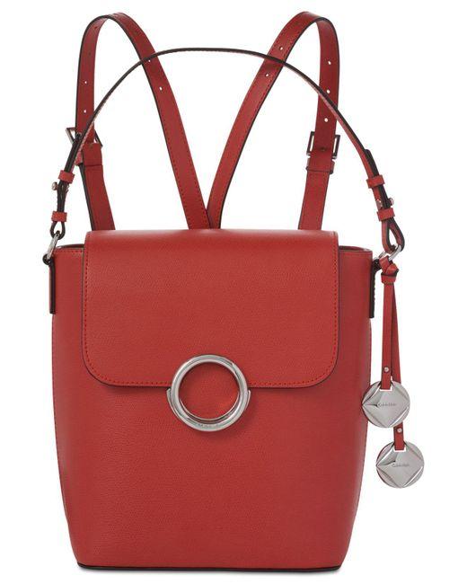 Calvin Klein | Red Reese Mercury Medium Backpack | Lyst