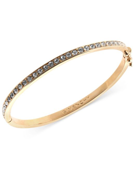 Givenchy | Metallic Bracelet, Rose Gold-tone Silk Swarovski Element Bangle Bracelet | Lyst