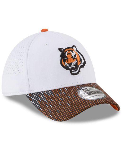 online retailer fa199 ccaa0 ... KTZ - White Cincinnati Bengals Equalizer 39thirty Cap for Men - Lyst ...