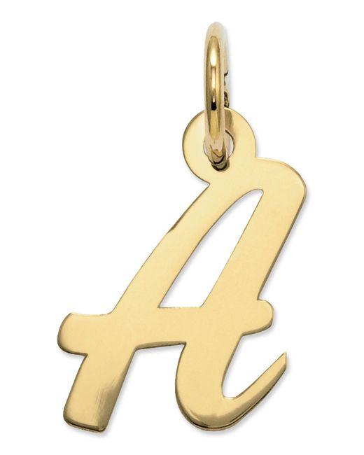Macy's   Metallic 14k Gold Charm, Small Script Initial A Charm   Lyst